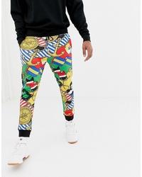 Pantalon de jogging imprimé multicolore