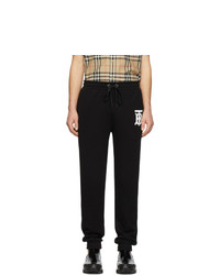 Pantalon de jogging imprimé noir et blanc Burberry