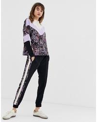 Pantalon de jogging imprimé noir In Wear