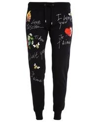 Pantalon de jogging imprimé noir Moschino