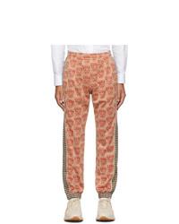Pantalon de jogging imprimé orange