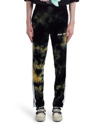 Pantalon de jogging imprimé tie-dye noir