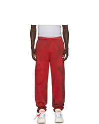 Pantalon de jogging imprimé tie-dye rouge Off-White