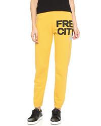 Pantalon de jogging jaune