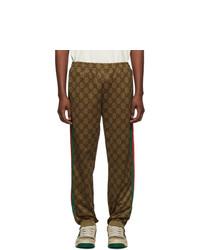 Pantalon de jogging marron foncé Gucci