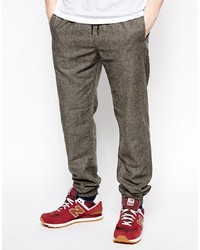 Pantalon de jogging marron foncé Selected
