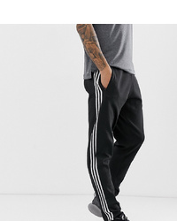 Pantalon de jogging noir et blanc adidas