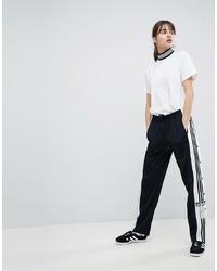 Pantalon de jogging noir et blanc adidas Originals