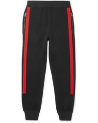 Pantalon de jogging rouge et noir