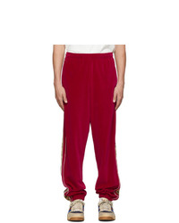Pantalon de jogging rouge Gucci