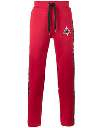 Pantalon de jogging rouge Marcelo Burlon County of Milan