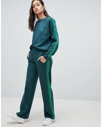 Pantalon de jogging vert foncé Only