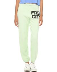 Pantalon de jogging vert menthe Freecity