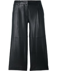 Pantalon en cuir noir MICHAEL Michael Kors