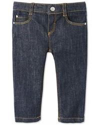 Pantalon en denim bleu marine