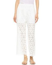 Pantalon en dentelle blanc Zimmermann
