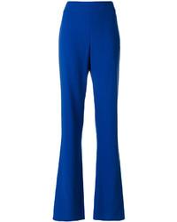 Pantalon en laine bleu Giorgio Armani