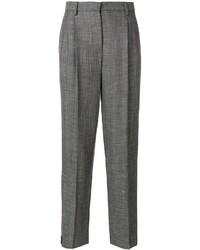 Pantalon en laine gris foncé Giorgio Armani