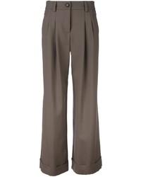 Pantalon en laine gris Giorgio Armani