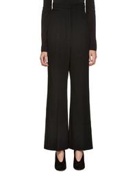 Pantalon en laine noir Lanvin