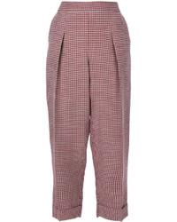 Pantalon en laine rouge Giorgio Armani