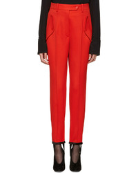 Pantalon en laine rouge Nina Ricci
