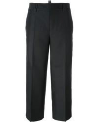 Pantalon en soie noir Dsquared2