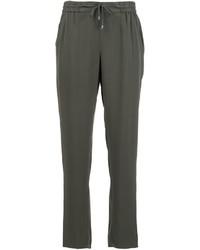 Pantalon en soie olive Eileen Fisher
