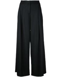 Pantalon en soie plissé noir Missoni
