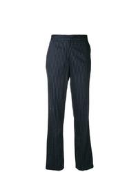 Pantalon flare à rayures verticales bleu marine Golden Goose Deluxe Brand