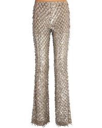Pantalon flare argenté Michael Kors