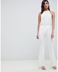 Pantalon flare blanc ASOS DESIGN