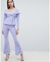 Pantalon flare bleu clair Lavish Alice