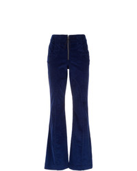 Pantalon flare bleu marine Alcaçuz