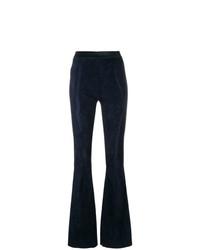 Pantalon flare bleu marine Drome