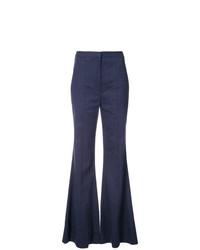 Pantalon flare bleu marine Dvf Diane Von Furstenberg