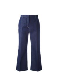 Pantalon flare bleu marine MSGM
