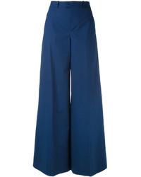 Pantalon flare bleu marine RED Valentino