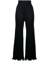 Pantalon flare bleu marine Stella McCartney