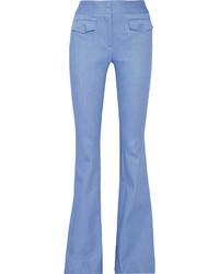 Pantalon flare bleu