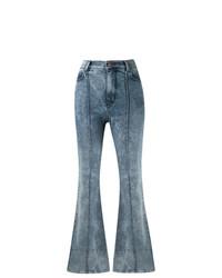 Pantalon flare bleu Amapô