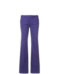 Pantalon flare bleu Versace Vintage