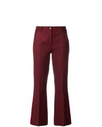 Pantalon flare bordeaux P.A.R.O.S.H.