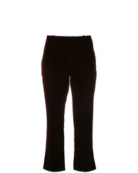 Pantalon flare bordeaux Saint Laurent