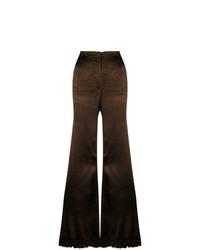Pantalon flare brun foncé Marni
