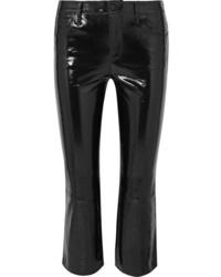 Pantalon flare en cuir noir J Brand