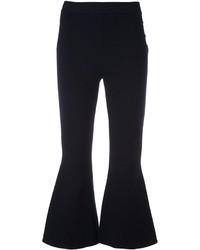 Pantalon flare en laine bleu marine Stella McCartney