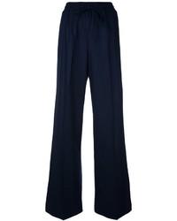Pantalon flare en laine bleu marine Twin-Set