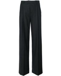 Pantalon flare en laine gris foncé RED Valentino