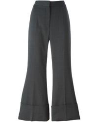 Pantalon flare en laine gris foncé Stella McCartney